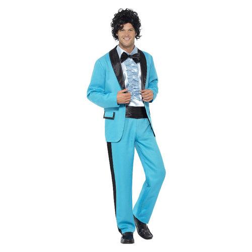 Smiffys 80s Prom Koning Kostuum - Blauw