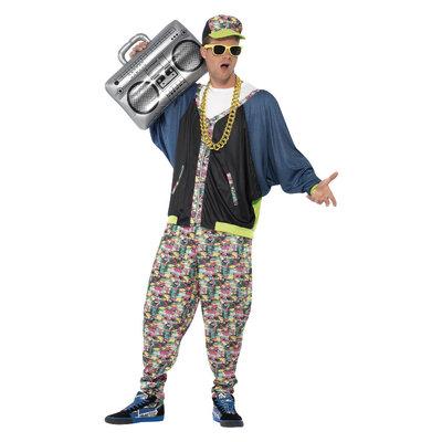 Jaren '80 Hiphop Kostuum - multicolor