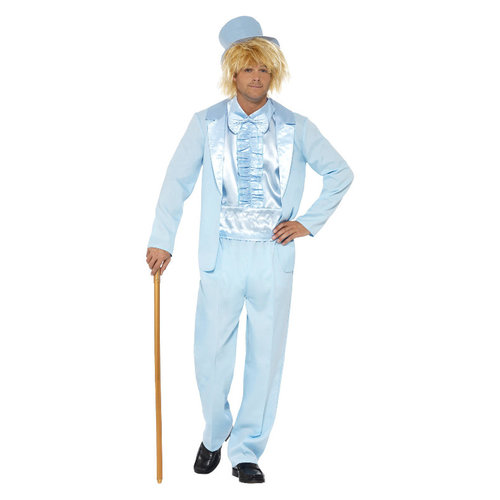 Smiffys 90s Dom Smoking Kostuum - Blauw
