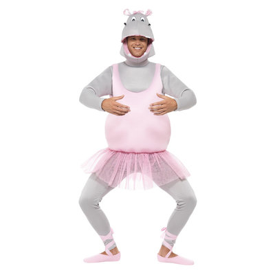 Ballerina Hippo Kostuum - Roze