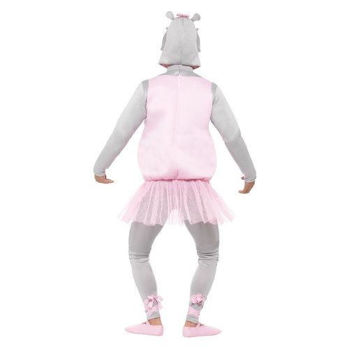 Smiffys Ballerina Hippo Kostuum - Roze