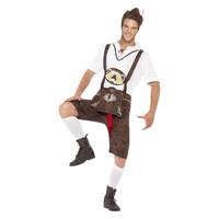 Smiffys Brad Wurst Kostuum - Bruin