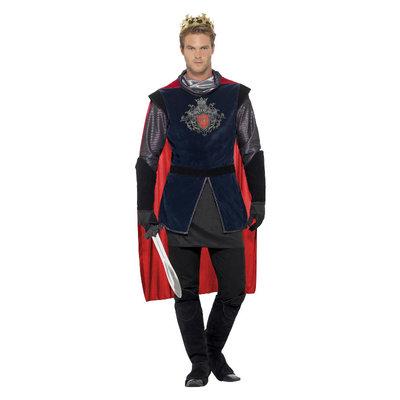 Deluxe King Arthur Kostuum - Zwart