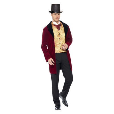 Deluxe Edwardian Gentleman Kostuum - Rood