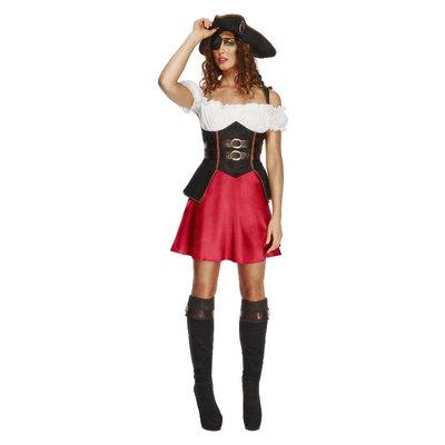 Fever Piraat Wench Kostuum - Zwart