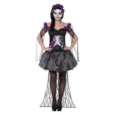 Dag Van De Doden Senorita Kostuum - Zwart