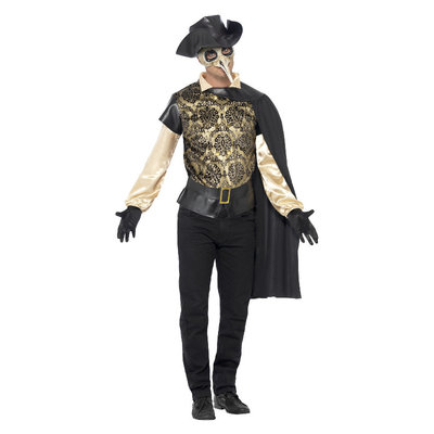 Plaag Arts Kostuum - Zwart