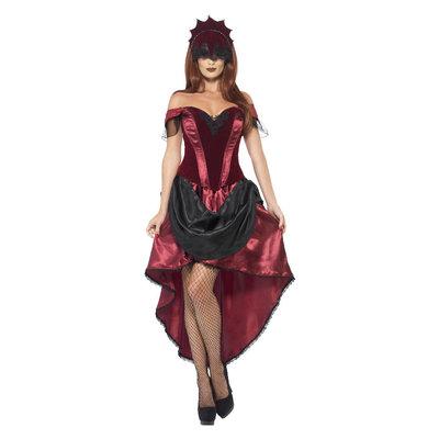 Venetiaans Verleidster Kostuum - Rood