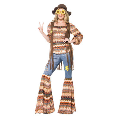 Harmony Hippie Kostuum - Veelkleurig