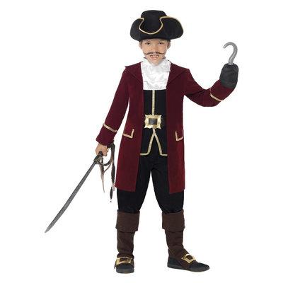 Deluxe Piratenkapitein Kostuum - Zwart