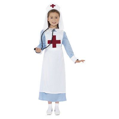 Ww1 Verpleegster Kostuum - Blauw