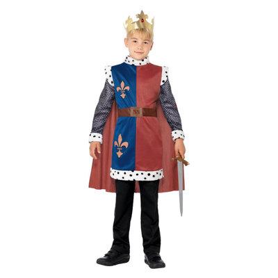 Koning Arthur Middeleeuws Kostuum - Rood