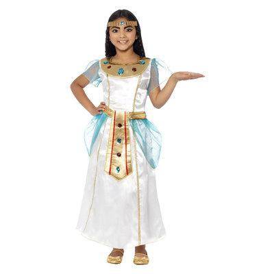 Deluxe Cleopatra Meisje Kostuum - Wit