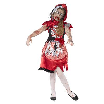 Zombie Roodkapje Kostuum - Rood
