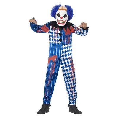 Deluxe Sinistere Clown Kostuum - Blauw
