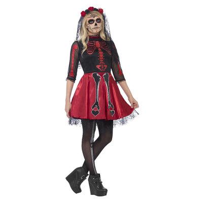 Dag Van De Doden Diva Kostuum - Zwart
