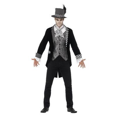 Deluxe Donkere Hoedenmaker Kostuum - Zwart