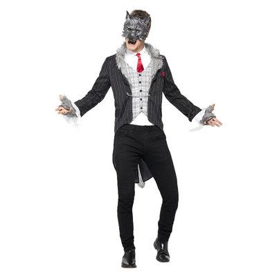 Deluxe Grote Boze Wolf Kostuum - Grijs