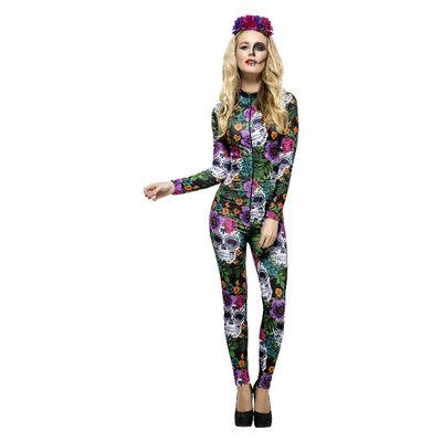 Koorts Dag Van De Doden Kostuum - Multi-gekleurde