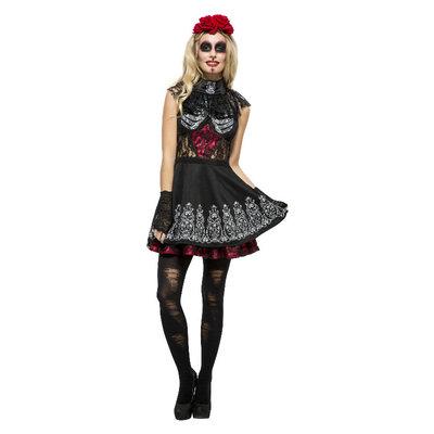 Koorts Dag Van De Doden Kostuum - Zwart