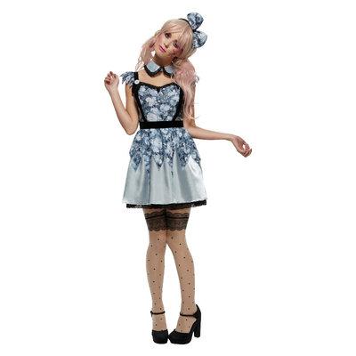 Fever Gebroken Pop Annie Kostuum - Blauw