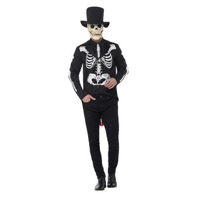 Dag Van De Doden Meneer  Skelet Kostuum - Zwart