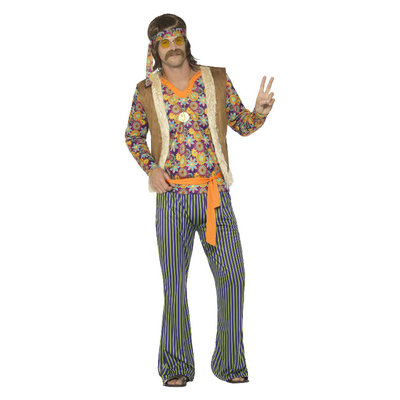 '60 Zanger Kostuum - Man - Multi-gekleurd