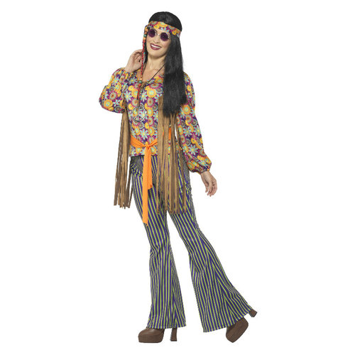 Smiffys '60 Zanger dameskostuum -  Multi-gekleurd