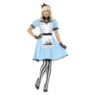 Deluxe Donker Tea Party Kostuum - Met Jurk - Blauw