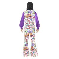 Smiffys 60s Groovy Hippie Kostuum - Veelkleurige