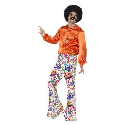 60s Groovy Uitlopende Broeken - Mannen - Multi-colored