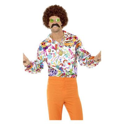 60s Groovy Overhemd - Multi-colored