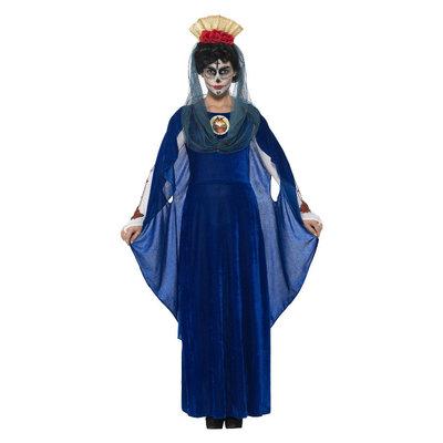 Dag Van De Doden Heilige Mary Kostuum - Blauw