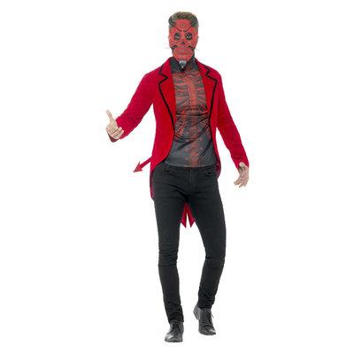 Dag Van De Doden Duivel Kostuum - Rood