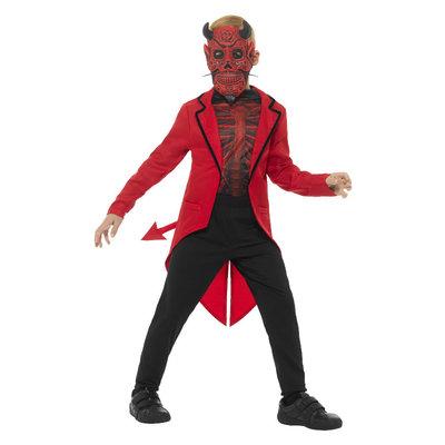 Deluxe Dag Van De Doden Duivelsjongen Kostuum - Rood