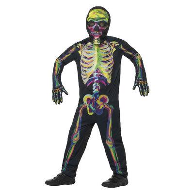 Glow In The Dark Skelet Kostuum Multicolour