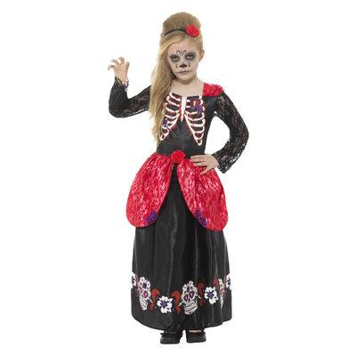 Deluxe Dag Van Het Dode Meisje Kostuum - Zwart