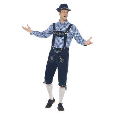 Deluxe Traditionele Rutger Beiers Kostuum - Blauw