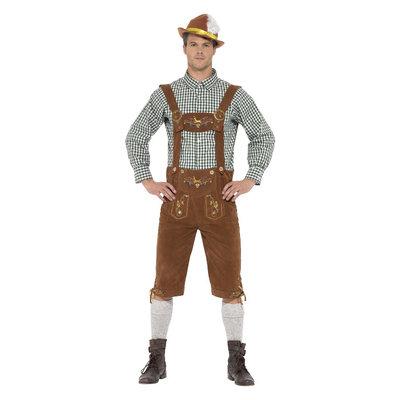 Deluxe Traditionele Hanz Beiers Kostuum Groen