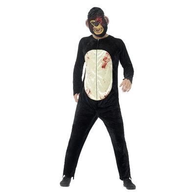 Zombie chimpansee Kostuum Zwart