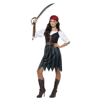 Piraat Matroos Kostuum - Blauw