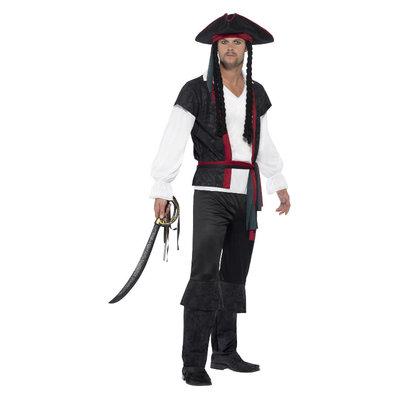 Aye Aye Piratenkapitein Kostuum Zwart