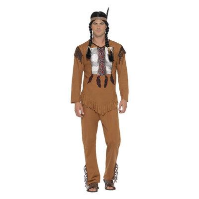 Indiaans Strijder Kostuum - Bruin