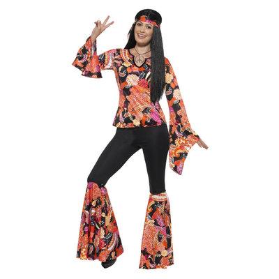 Wilg De Hippie Kostuum - Veelkleurige