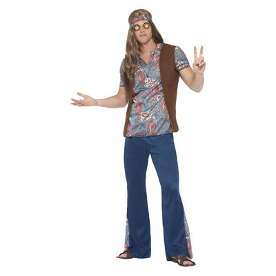 Orion De Hippie Kostuum - Blauw