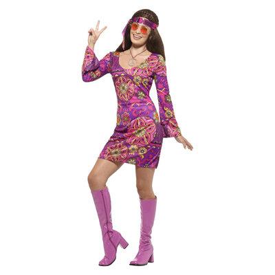Hippie Chick Kostuum - Veelkleurig