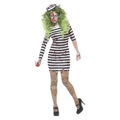 Zombie Gevangene Kostuum - Zwart