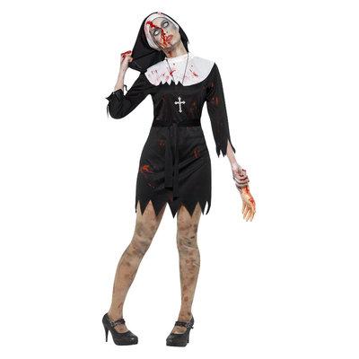 Zombie Zuster Kostuum Zwart