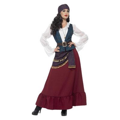 Deluxe Pirate Buccaneer Schoonheid Kostuum - Paars