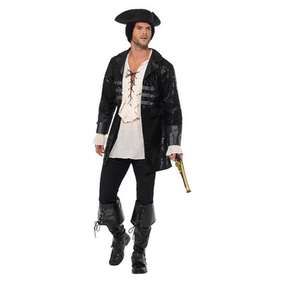 Boekanier Piraat Jas - Zwart